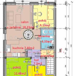 seg A piętro - Tyczyn Osiedle Kościuszki Tyczyn szeregówki - mieszkania w szeregówkach
