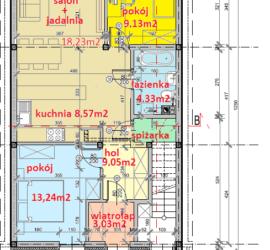 seg-C-parter - Tyczyn Osiedle Kościuszki Tyczyn szeregówki - mieszkania w szeregówkach