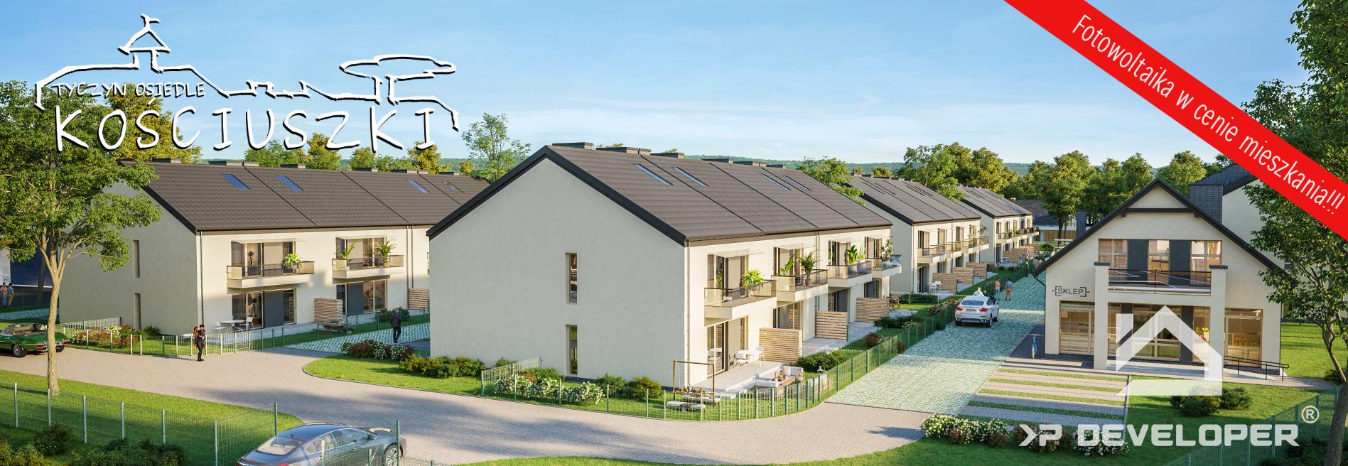 Nowe szeregówki Tyczyn mieszkania Osiedle Kościuszki