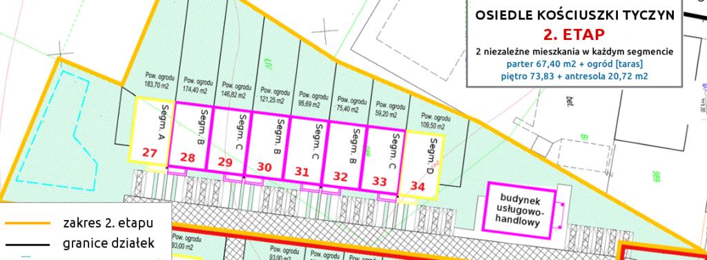 2 etap - osiedle kosciuszki tyczyn nowe szeregowki mieszkania